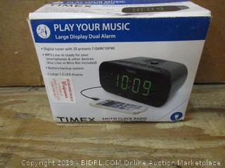 Timex AM/FM Clock Radio with Digital Tuning   box damaged