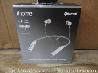 iHome Flexible Folding Neckband Earbuds