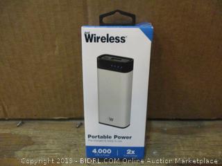 Wireless Portable Power No Cords, Box damaged