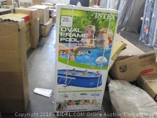 Intex Oval Frame Pool Set (Sealed) (Box Damaged)