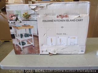 Folding Kitchen Island Cart (Box Damaged) (Please Preview)