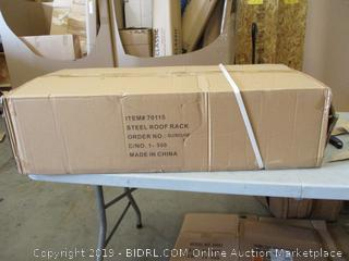 Steel Roof Rack (Sealed) (Box Damaged) (Please Preview)