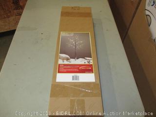 4 ft. LED Snow Barked Tree