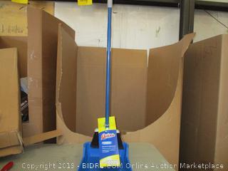 Flip-Lock Dust Pan & Lobby Broom