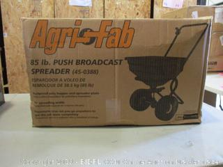 85 lb. Push Broadcast Spreader (Please Preview) (Box Damaged)
