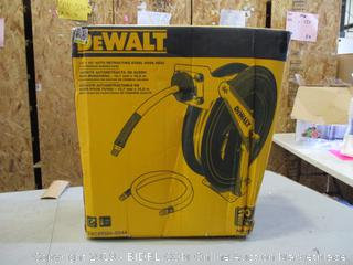 DeWalt Auto Retracting Steel Hose Reel (Box Damaged) (Please Preview)