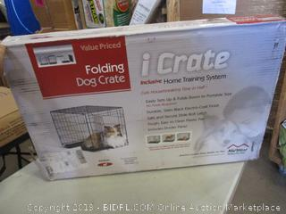 iCrate Folding Dog Crate