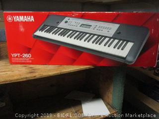 Yamaha portable keyboard with power adapter