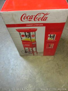 Coca-Cola chariot popcorn maker - powers on