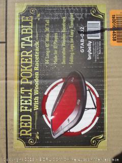 Red Belt Poker Table