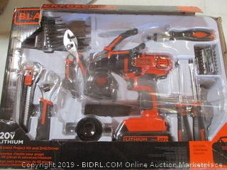 Black & Decker 68 Piece Project Kit and Drill