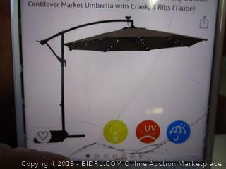 LED Hanging Offset Patio Umbrella