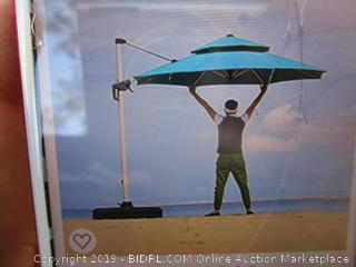 Purple Leaf Offset Hanging Umbrella (Please Preview)