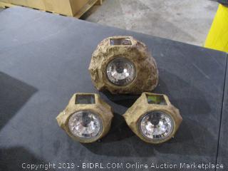 Solar Rock Spotlights