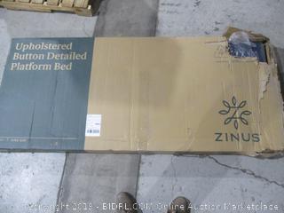 Zinus Upholstered Button Detailed Platform Bed King