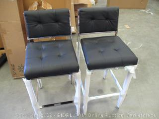 2 Barstools some damage see pictures