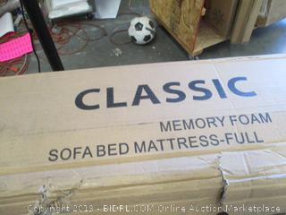 Classic Brands Memory Foam Sofa Bed Mattress Full