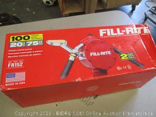 Fill Rite Piston hand pump