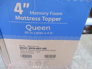 """Queen 4"""" Memory Foam Mattress Topper"""