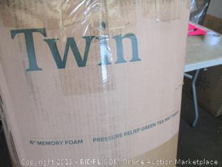 "Zinus Twin 6"" Memory Foam Pressure Relief Green Tea Mattress"
