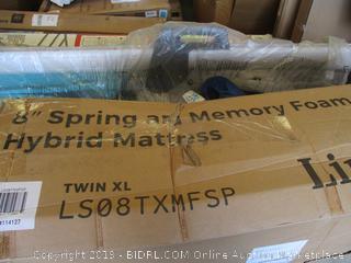 "Linenspa 8"" Spring and Memory Foam Hybrid Mattress Twin XL"