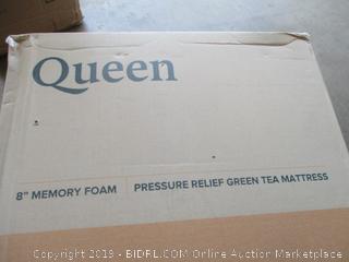 """Zinus Queen 8"""" Memory Foam Pressure Relief Green Tea Mattress"""