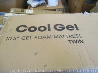 """Cool Gel 10.5"""" Gel Foam Mattress Twin"""