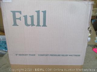 "Zinus Full 6"" Memory Foam Comfort Pressure Relief Mattress"