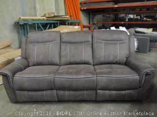 Double Recliner Sofa, has rip See Pictures