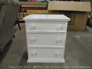 3 Drawer Night Stand- Middle Drawer Need Repair