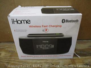 iHome Stereo Speaker System with Dual Alarm Clock + Dual Charging