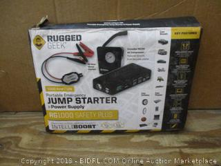 Rugged Geek Portable Emergency Jump Starter Power Supply