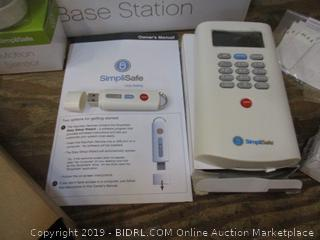 Simpli Safe Wireless Home Security Command Bravo Box damaged
