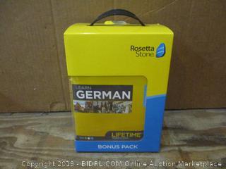 Rosetta Stone Learning German Bonus Pack