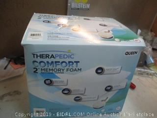 "Therapedic Comfort 2"" Memory Foam Mattress Topper Queen"