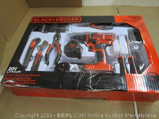 Black + Decker Project Kit and Drill/Driver