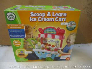 Leap Frog Scoop & Learn Ice Cream Cart Factory Seal opened for picturing