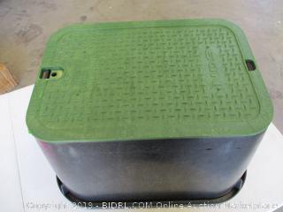 "NDS Green 113BC Standard Series Valve Box Cover, 14 19-Inch, Black/G, 14"" x 19"" B"