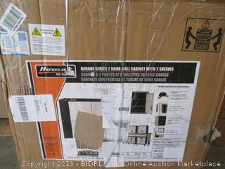 Homak 2 Door Wall Cabinet with 2 Shelves, Steel, GS00727021 (Damaged)