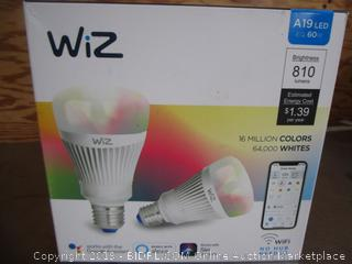 WiZ Connected Light Bulb A19 LED Wifi