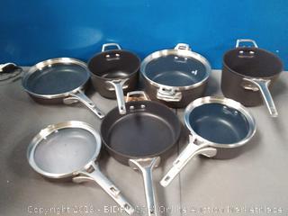 Calphalon Premier Hard Anodized Nonstick Space Saving cookware set 11-Piece (online $424)