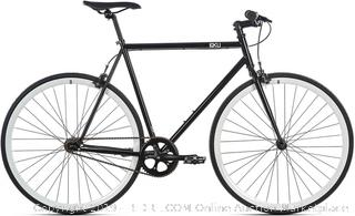 6KU Shelby 2 Fixed Gear Bicycle, Black/White, 49cm (online $219)