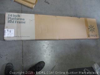 Zinus 14in Platforma Bed Frame, Queen