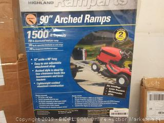 "Highland (1122400) 90"" Aluminum Arched Loading Ramp - Pair"