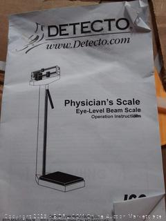 Detecto Eye-Level Beam Physician's Scale with Height Rod