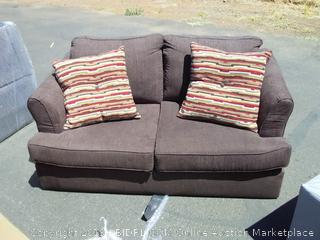 Diver Chocolate Simmons Loveseat with Pull Out Twin Bed (hole, see photos)