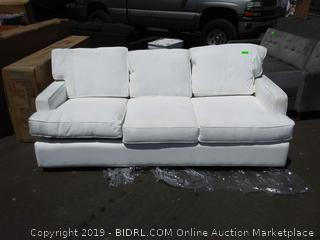 White Avery Sofa Bed With Pull out Queen Bed (online $526)