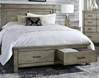 Sayler Headboard/Footboard Platform Bed Queen (bedding and mattress not included)