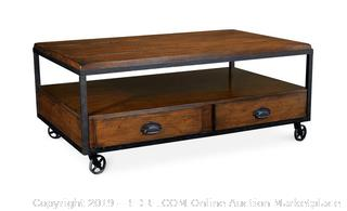Baja Rectangle Cocktail Table Water Damage on Edge and scuffs (online $499)