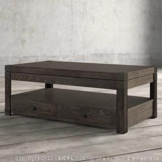 Rectangle Lift Top Cocktail Table Brocken/Cracked Edges